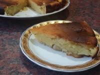 Сметанадан олмали пирог
