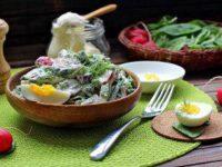 Баҳорий салат — иштаҳангиз очилиб, витаминга тўйинасиз!